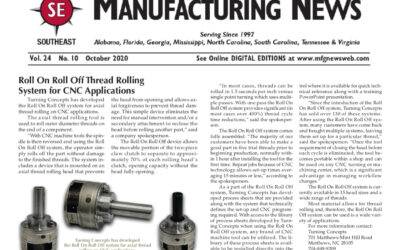 Turning Concepts Makes the October Issue of Manufacturing News